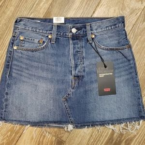 LEVI'S Deconstructed Denim Skirt. New with tags.